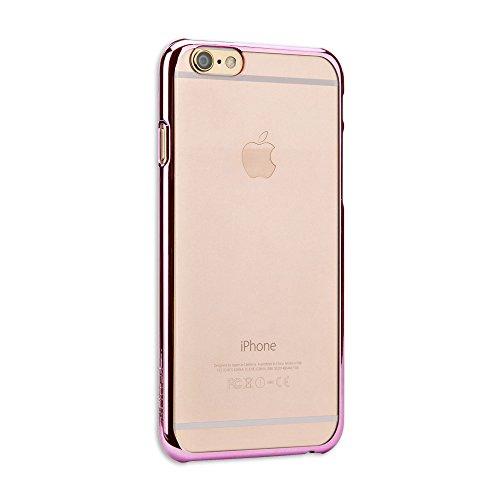x-fitted 苹果iphone6 手机壳超薄边框透明外壳炫彩简约电镀保护套