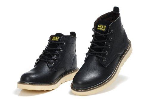 Guciheaven 英伦风时尚型男最爱 男士商务男鞋 头层牛皮军靴 高帮男靴子 户外休闲鞋 男马丁靴