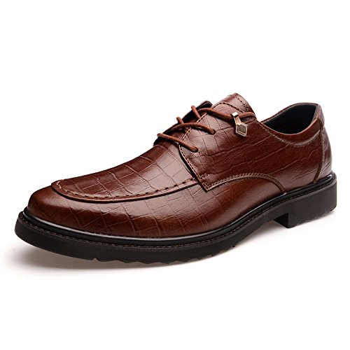 vancamel 西域骆驼 春季英伦商务男士真皮休闲鞋韩版百搭正装鞋低帮系带耐磨男鞋1089