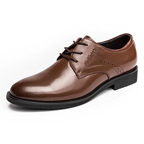 MULINSEN 木林森 男鞋办公室正装鞋真皮系带商务皮鞋单鞋