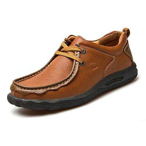 Camel 骆驼男鞋 秋冬款低帮鞋 头层牛皮户外休闲鞋6688