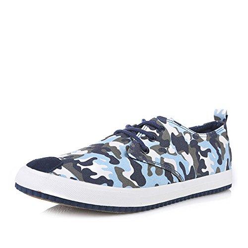 人本 迷彩帆布鞋 男鞋 英伦潮流休闲鞋 男平底低帮鞋 板鞋单鞋RB9981