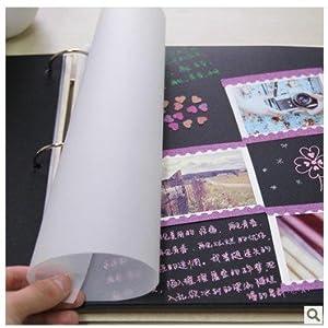 手工diy相册簿影集必备工具12寸硫酸纸内页半透明夹层纸分高清图片