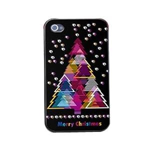 手机工坊iPhone 4S/4 外壳水钻 苹果4代手机套 保护壳 圣诞假日