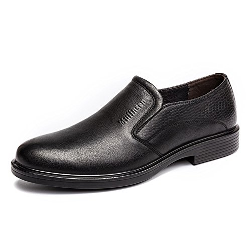 MULINSEN 木林森 男鞋男士商务正装皮鞋头层牛皮低帮单鞋子