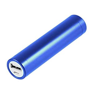 蓝色口红移动电源 2200mah 迷你时尚 (银色)
