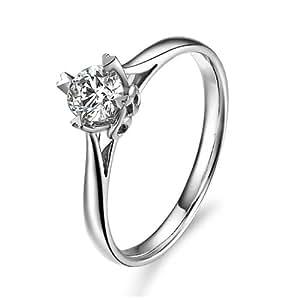 百利恒 0.35ct H色VS 10#钻石戒指