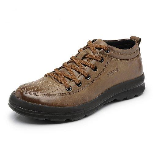 Fuguiniao 富贵鸟 英伦时尚奢华品质男鞋 简约舒适系带商务男鞋 防滑橡胶底运动徒步鞋