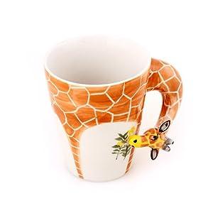 3d立体纯手绘杯 创意马克杯子 个性咖啡杯奶茶杯大容量陶瓷动物杯