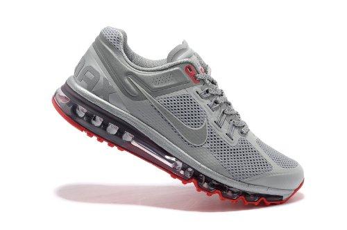 Nike 耐克 Air Max 2013 系列 全掌气垫 网面 透气 缓震 抓地 休闲运动鞋 579584-006 银红