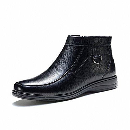 富贵鸟 2013冬季 真皮男鞋意式经典款男款简约型套筒式商务靴子383911