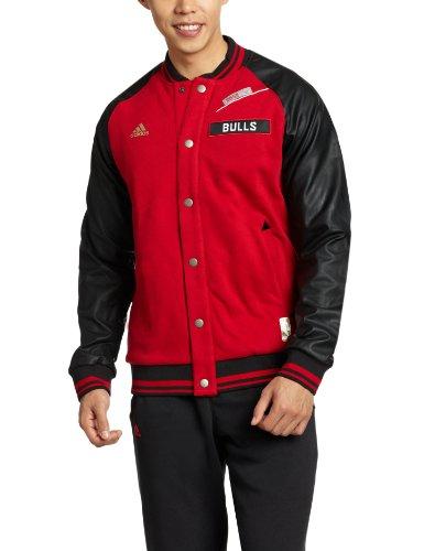 adidas 阿迪达斯 男式 NBA篮球茄克NBA BS JKT LUX 校园红/侦探金 M F50420-图片