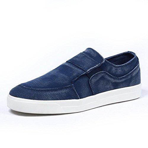 鞋小二男士帆布鞋男韩版潮低帮休闲男鞋子男布鞋英伦潮流牛仔水洗帆布鞋