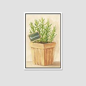天海画艺 小清新手绘植物盆栽装饰画客厅现代简约餐厅