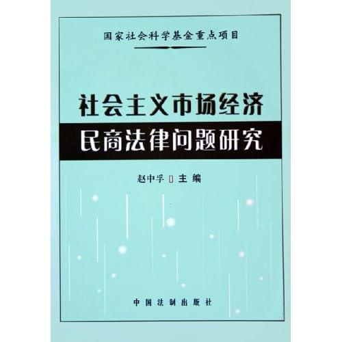 社会主义市场经济民商法律问题研究
