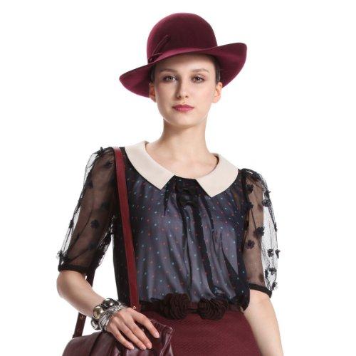 女式中袖衬衫_ochirly 欧时力 欧美雪纺网纱波点 中袖衬衫 女式 1124010400650图片