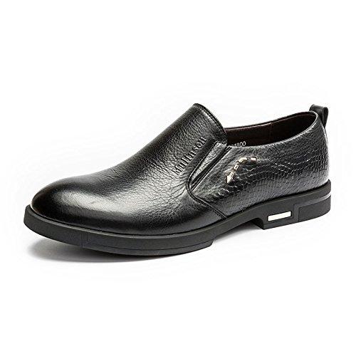 MULINSEN 木林森 皮鞋套脚鳄鱼纹男商务休闲皮鞋韩版潮流男鞋
