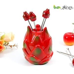 时尚创意可爱水果叉创意套装图片
