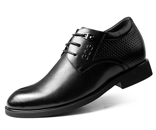 GOG(高哥) 尖头系带内增高男鞋男式皮鞋GF806 男士商务增高皮鞋