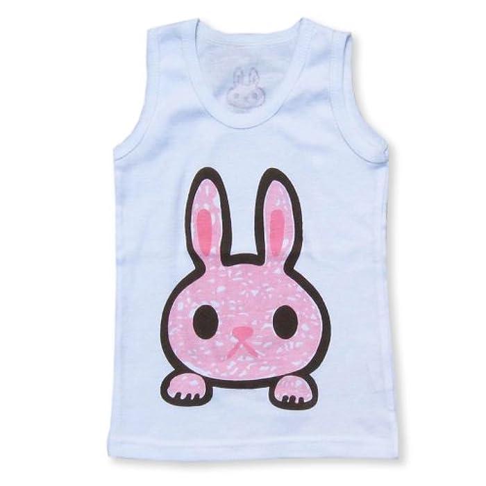 卡通男童女童小动物背心 (100, 粉色小兔子)