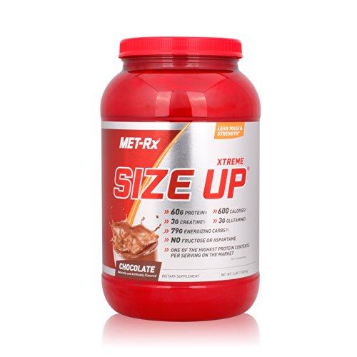 MET-Rx 美瑞克斯 Size Up营养粉固体饮料(巧克力味)3磅/桶(1360g)(进口)-图片