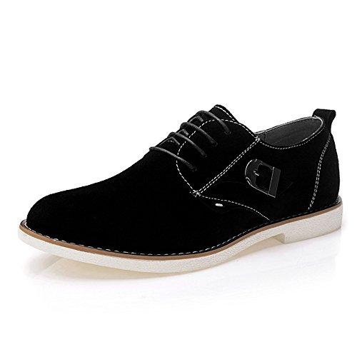 vancamel 西域骆驼 时尚男鞋 韩版超流行低帮鞋男士手工日常休闲真皮板鞋英伦系带反绒 皮鞋1080