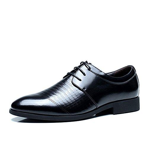 FGN 富贵鸟 鞋男士韩版商务正装皮鞋男鞋英伦潮时尚男式真皮圆头皮鞋系带牛皮平跟耐磨防滑低帮鞋