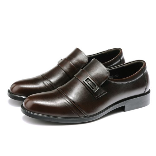FGN 富贵鸟 富贵鸟男鞋2014秋季商务正装鞋英伦低帮鞋真皮皮鞋 A383832 棕色