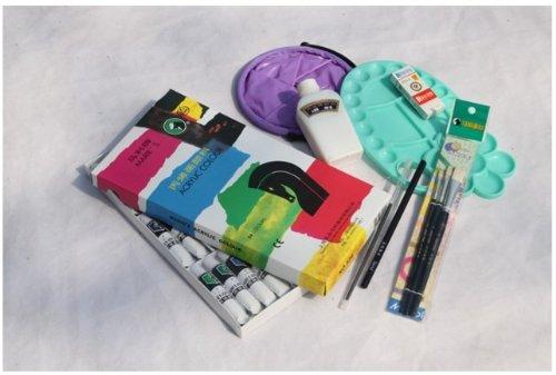 马利牌 丙烯颜料8件超值套装 丙烯墙绘 手绘颜料套装