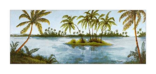 树木画|棕榈树|树木装饰画|群岛|树木风格|树木种类|风景装饰画|海景