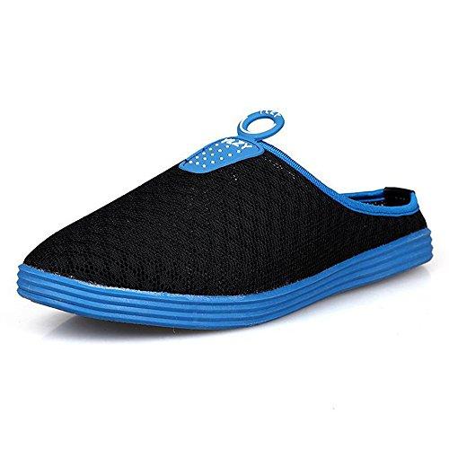 夏季时尚 休闲男拖鞋透气男鞋网鞋潮男半拖简约韩版凉鞋鸟巢鞋