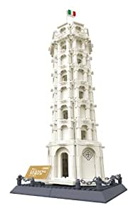 WANGE 万格 拼插积木 建筑模型系列 比萨斜塔 8012