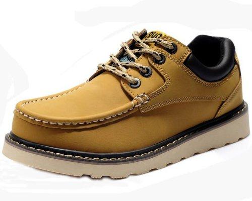 Zsuo 型男大爱超酷系带真皮靴 全牛皮时尚个性休闲鞋工作鞋 潮男必备意式风格板鞋 男鞋
