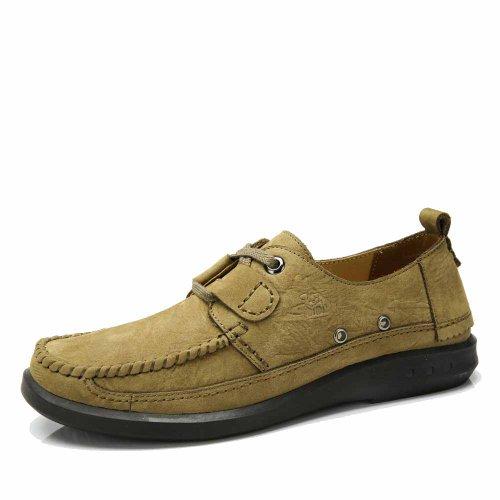 Camel 骆驼 男鞋 日常休闲春季头层牛皮男板鞋潮流时尚系带男鞋A412307003