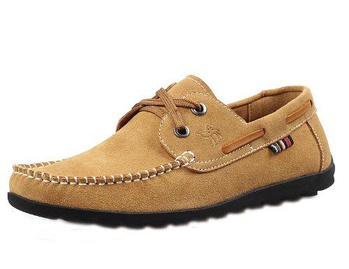 Camel 骆驼 英伦时尚杂志款品质单鞋 男士韩版休闲鞋便鞋 真皮舒适柔软开车鞋流行商务皮鞋 个性男鞋