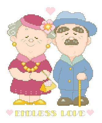万众家园 十字绣 客厅卧室人物画 可爱卡通 老夫妻 9ct 朵拉线 4股图片