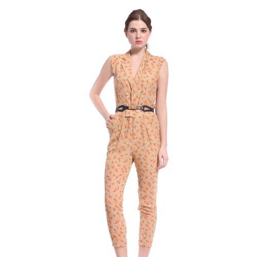 ochirly 欧时力 欧美OL通勤印花雪纺连体裤 女式 1123060570820