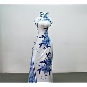 手绘服装人体旗袍