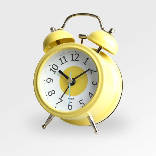 时尚田园钟表创意座钟可爱闹钟 夜光闹铃桌钟小夜灯桌钟 柠檬杯子蛋糕