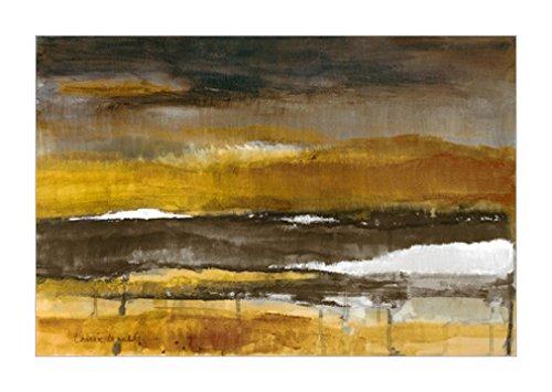原版進口裝飾畫 stratscape in gold 91x61cm 抽象風景畫裝飾畫|抽象