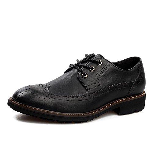 男士真皮休闲皮鞋布洛克复古雕花透气流行男鞋英伦潮鞋