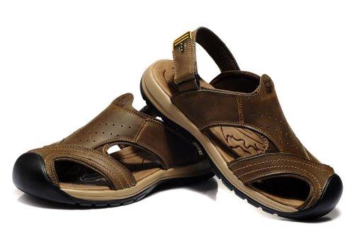 Van-camel 西域骆驼 夏季新款男鞋 真皮凉鞋 时尚户外休闲鞋溯溪鞋 包头沙滩鞋拖鞋 透气休闲鞋