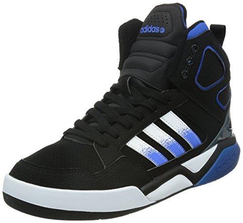 adidas NEO 阿迪达斯运动生活 BASKETBALL 男 休闲篮球鞋BB95 MID  F98774 一号黑/白/蓝 39 (UK 6)