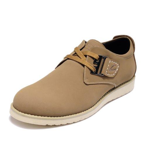 Camel Active 骆驼动感 德国骆驼潮流英伦板鞋牛皮休闲鞋真皮轻便男鞋C63607199 杏色 38
