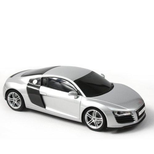 美嘉欣 遥控仿真汽车模型 1:20奥迪r8 8125 灰色 高仿真车模,做工精细