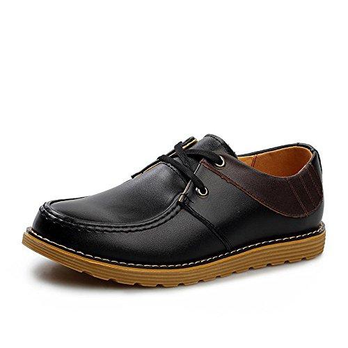 时尚 潮流英伦商务休闲皮鞋真皮高帮男鞋正装系带皮鞋