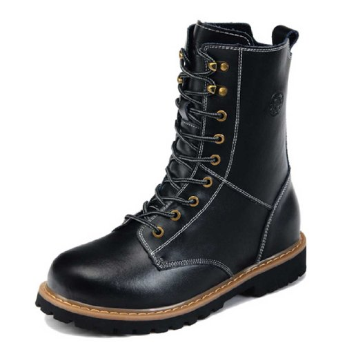 Guciheaven 古奇天伦 秋冬新款男靴休闲皮靴硬汉工装靴军靴男鞋 5585黑色40