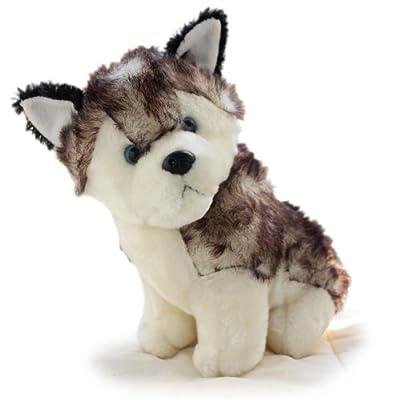 甜蜜城堡 毛绒玩具布娃娃 雪橇犬哈士奇可爱狗狗公仔玩偶 生日礼物