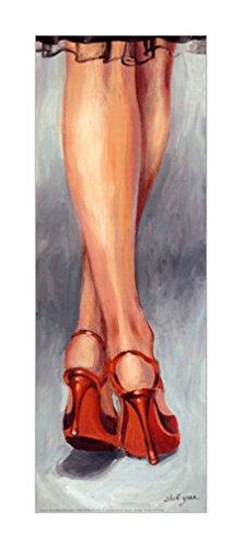 口装饰画 红色高跟鞋 25x70cm 高跟鞋和轻舞鞋装饰画 高跟鞋和轻舞