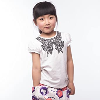 江南 霖 童装女童夏款蝴蝶印花短袖t恤 白色 粉色 黑色 jbxz高清图片